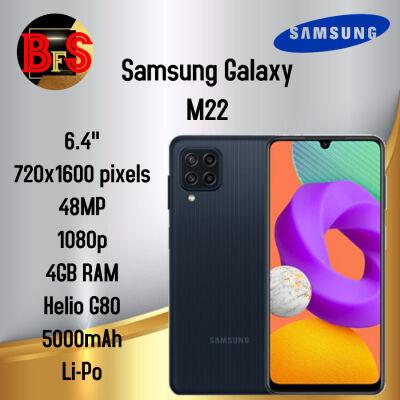 Samsung Galaxy M22 Ram 6/128GB - Garansi Resmi SEIN - BNIB Hitam 6/128GB BFS